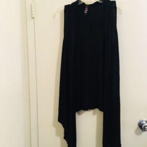 Julia black tank top cover up vest NO size